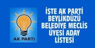 İŞTE AK PARTİ BEYLİKDÜZÜ BELEDİYE MECLİS ÜYESİ ADAY LİSTESİ