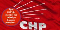 İşte CHP#039;nin İstanbul ilçe belediye başkan adayları...