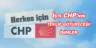 İşte CHP'nin teklif götüreceği isimler