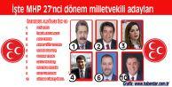 İşte MHP 27#039;nci dönem milletvekili adayları