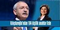 Kılıçdaroğlundan 104 kişilik anahtar liste