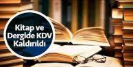 Kitap ve süreli yayınlarda KDV kaldırıldı