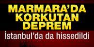 Marmara#039;da deprem!..İstanbul#039;da da hissedildi