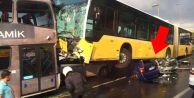 Metrobüs araçları biçti: Yaralılar var!