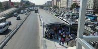Metrobüs hattında çalışmalar başladı