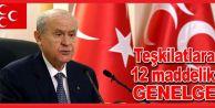MHP lideri Bahçeliden ilçe teşkilatlarına genelge
