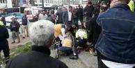 Özel halk otobüsü yayalara ve araçlara çarptı: Çok sayıda yaralı var