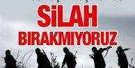 PKK'dan açılım açıklaması: Silah bırakmıyoruz