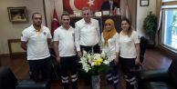 Sağlık Çalışanlarından Başkan Karaya Teşekkür Ziyareti