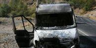 Sarıkamış'ta Teröristler 4 Aracı Ateşe Verdi