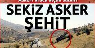 Siirt#039;te askere bombalı tuzak: 8 şehit