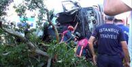 Silivri#039;de Beton Mikseri Devrildi 1 Ölü 1 Yaralı