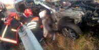 Silivri#039;de Feci Kaza! Otomobil Bariyerlere Saplandı, Cansız Bedeni Araçta Sıkıştı
