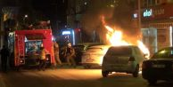 Silivri#039;de Otomobil Alev Alev Yandı