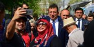 Sultanahmet#039;te Ekrem İmamoğlu#039;na sevgi seli