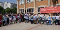 Taktiri alanlara başkandan  bisiklet