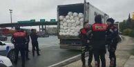 TEM#039;de şüpheli bir kamyon durduruldu!