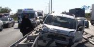 Tem#039;de Trafiği Kilitleyen Kaza: 4 Yaralı