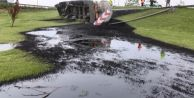 TEM#039;de zift yüklü tanker devrildi!
