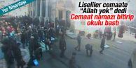 Teşvikiye Camii'nde liselilerden şaşırtan olay
