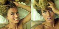 Tuğba Özay'dan yatak odası selfiesi