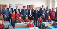 Vali Vasip Şahin Akalan İlk ve Ortaokulunu gezdi
