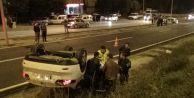 Yakıtı biten araç kazaya sebep oldu
