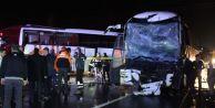 Yolcu otobüsleri çarpıştı: 68 yaralı!