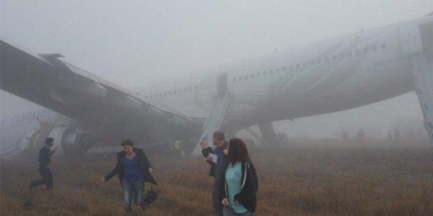 THY uçağı pistten çıktı: 1 yolcu yaralı