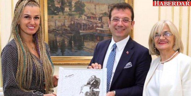 Tuğba Özay'dan Ekrem İmamoğlu'na ziyaret