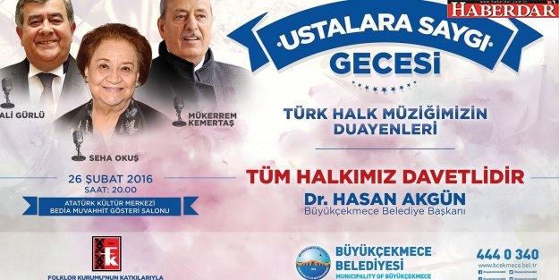 Türk Halk Müziği'nin 3 dev ismi Büyükçekmece'de buluşuyor