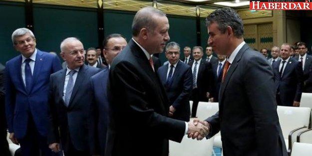 Türkiye Barolar Birliği Başkanı Metin Feyzioğlu, Cumhurbaşkanlığı Sarayı'nda