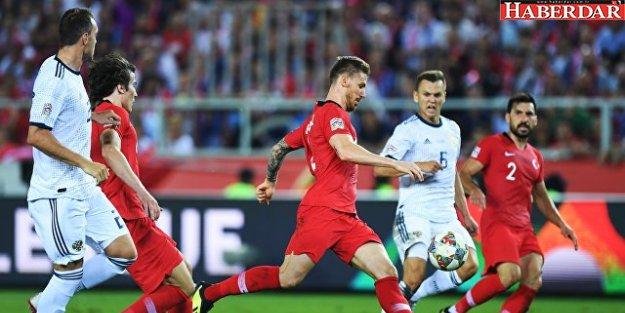 Türkiye, Uluslar Ligi'nde Rusya'ya 2-1 yenildi