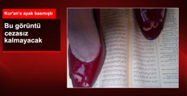 Twitter'da Kur'an'a Ayak Basan Kadın Yakalandı