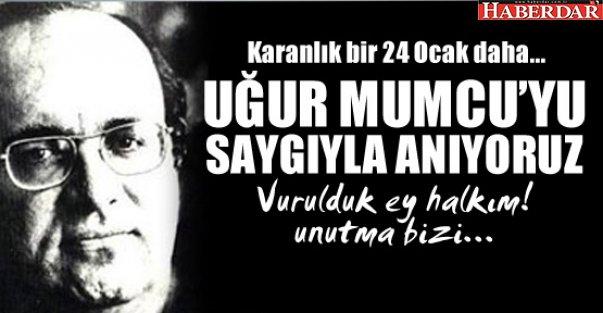 Uğur Mumcu'yu saygıyla anıyoruz...