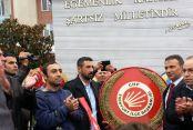 CHP'yi engellediler arbede çıktı