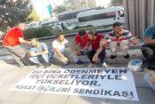 İnşaat işçilerinden protesto!