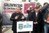Silivri'de termik santrale karşı tepki