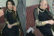 DEAŞ'lı teröristin şoke eden kadın kılığı