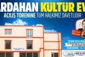 Ardahan Kültür Evi açılıyor