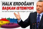 Halk Erdoğan'ı başkan istemiyor