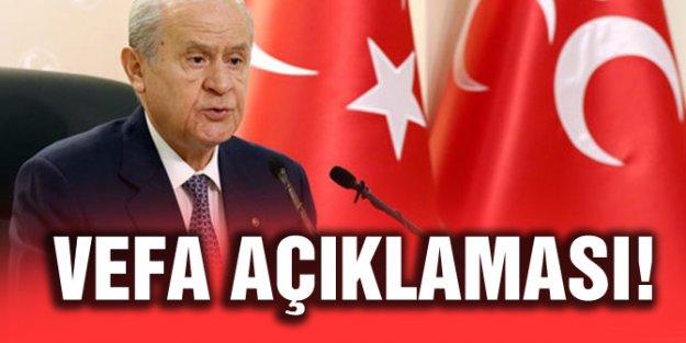 'VEFA DENİLİNCE AKLIMA ÖNCE GAZİLER GELİR'