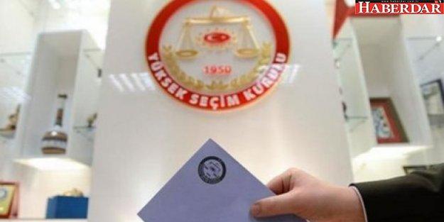 YSK kesin aday listesinde 33 yeni isim