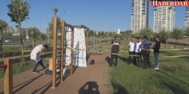 Zeytinburnu'nda spor aletlerine asılı ceset bulundu