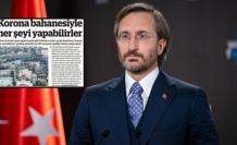 Fahrettin Altun şikayet etti, BirGün'e üç gün ilan kesme cezası verildi