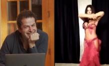 Cüneyt Özdemir, YouTube kanalında yılbaşı özel yayınına dansöz çıkardı