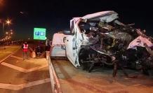 Büyükçekmece'de bariyerlere çarpan otomobilin sürücüsü öldü