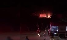 Silivri'de mobilya atölyesinde korkutan yangın