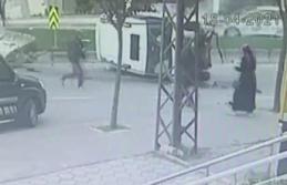 Büyükçekmece'de kısıtlama gününde yaşanan akılalmaz kaza kamerada