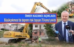Büyükçekmece'de hasarlı ve deprem riski taşıyan 70 konut yıkıldı